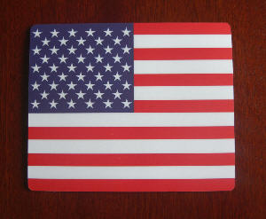 USA Country Flag Hardtop Mouse Mat / Pad.