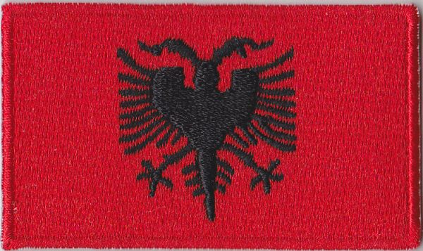 Albania Embroidered Flag Patch Style - Albania flag