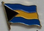 Bahamas Country Flag Enamel Pin Badge