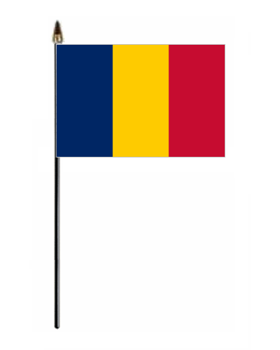 Chad Country Hand Flag Small - Chad flag