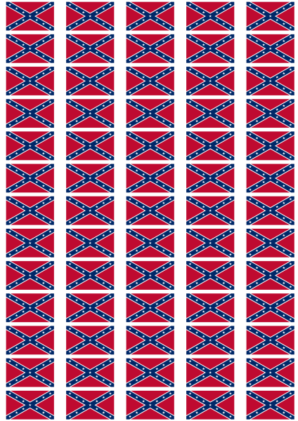 Confederate Flag Stickers 65 Per Sheet