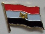 Egypt Country Flag Enamel Pin Badge