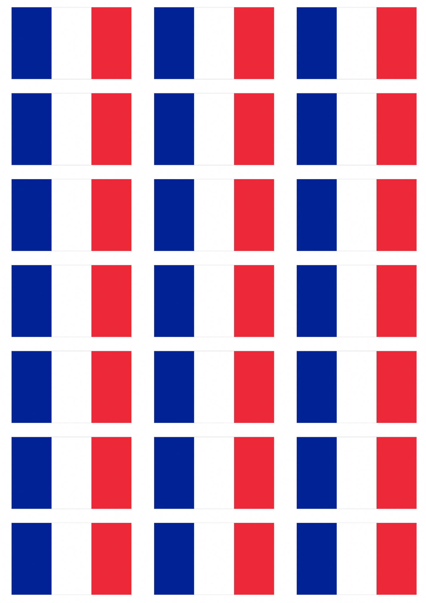 France Flag Stickers 21 Per Sheet