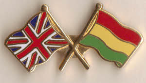 Great Britain and Bolivia Friendship Flag Pin Badge