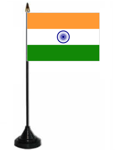 India Desk Table Flag With Plastic Stand And Base 7339 P on Indian Flag With Pole