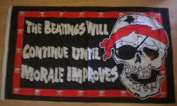 Pirate Beatings Large Flag - 5' x 3'.