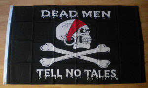 Pirate Dead Men Tell No Tales Large Flag - 5' x 3'.