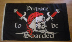 Pirate Prepare to be Boarded Large Flag - 5' x 3'.