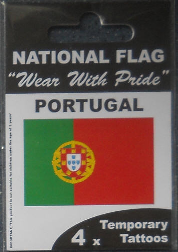 Portugal Country Flag Tattoos