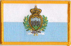 San Marino Embroidered Flag Patch, style 08