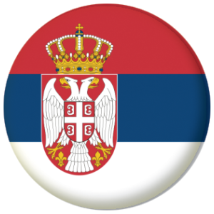 Serbia Country Flag 25mm Pin Button Badge