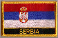 Serbia Embroidered Flag Patch, style 09.
