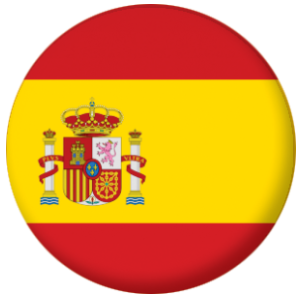 Spain Country Flag 25mm Pin Button Badge
