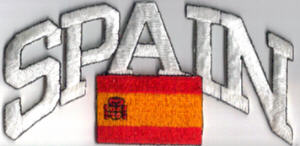 Spain Embroidered Flag Patch, style 03.