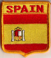 Spain Embroidered Flag Patch, style 06.
