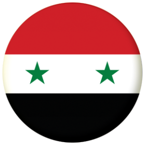 Syria Flag Badge Magnet Keyring Mirror Bottle Opener - Syria flag