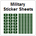 Military Sticker Sheets
