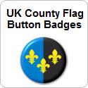 UK County Flag Button Badges