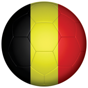 Belgium Football Flag 58mm Button Badge