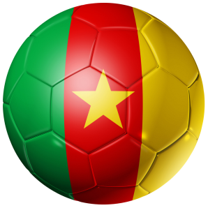 Cameroon Football Flag 58mm Mirror
