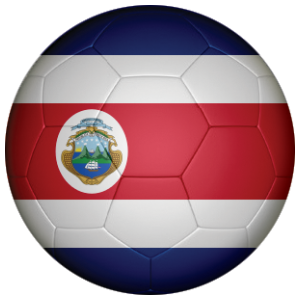 Costa Rica Football Flag 58mm Mirror