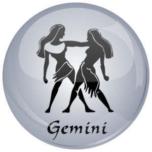 Gemini Grey Astrology 25mm Button Badge