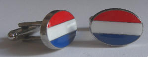 Holland Country Flag Cufflinks