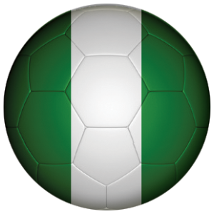 Nigeria Football Flag 58mm Mirror
