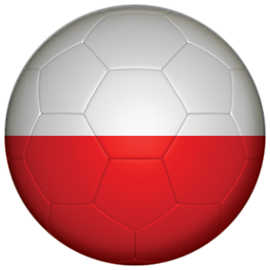 Poland Football Flag 58mm Mirror