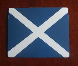 Scotland Country Flag Hardtop Mouse Mat / Pad.