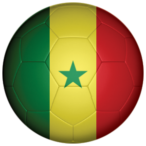 Senegal Football Flag 25mm Button Badge