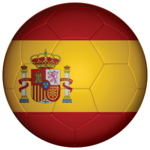 Spain Football Flag 58mm Keyring