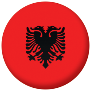Albania Country Flag 58mm Mirror