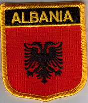 Albania Embroidered Flag Patch, style 07