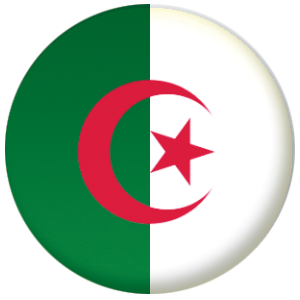 Algeria Country Flag 25mm Pin Button Badge