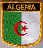 Algeria Embroidered Flag Patch, style 07.