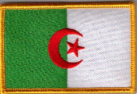 Algeria Embroidered Flag Patch, style 08.
