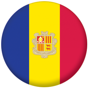 Andorra Country Flag 25mm Pin Button Badge