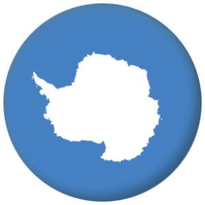 Antarctica Country Flag 58mm Button Badge