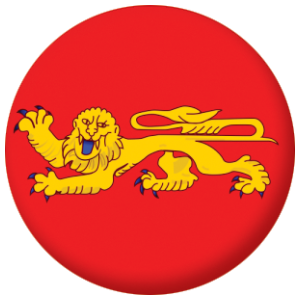 Aquitaine Province Flag 25mm Pin Button Badge