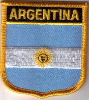 Argentina Embroidered Flag Patch, style 07.