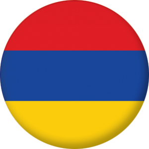 Armenia Country Flag 25mm Keyring