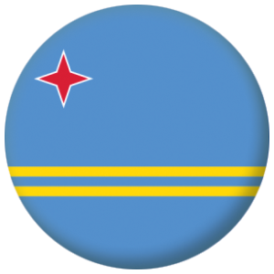 Aruba Country Flag 58mm Button Badge
