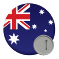 Australia and New Zealand Button Badges - 58mm