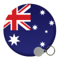 Australia and New Zealand Keyrings - 25mm
