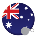 Australia and New Zealand Keyrings - 58mm