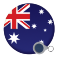 Australia and New Zealand Mirror Keyrings - 58mm