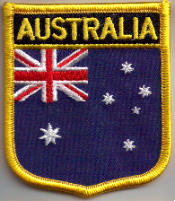 Australia Embroidered Flag Patch, style 07.