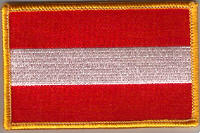 Austria Embroidered Flag Patch, style 08.