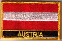 Austria Embroidered Flag Patch, style 09.